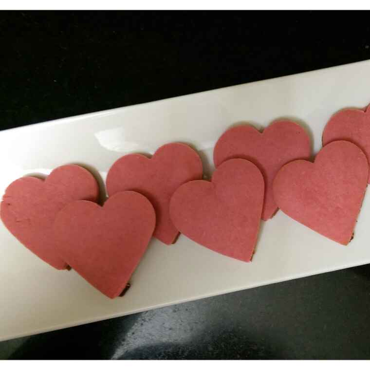 Photo of Heart Cookies by Sreemoyee Bhattacharjee at BetterButter