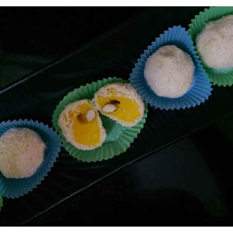 How to make Coconut and Kesar Truffles