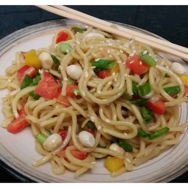 How to make Crunchy NOODLE salad