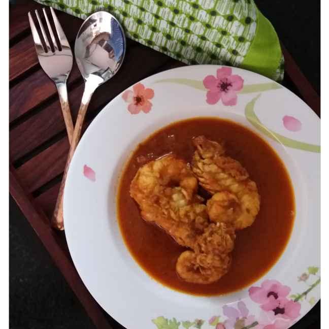 How to make Prawn malai curry