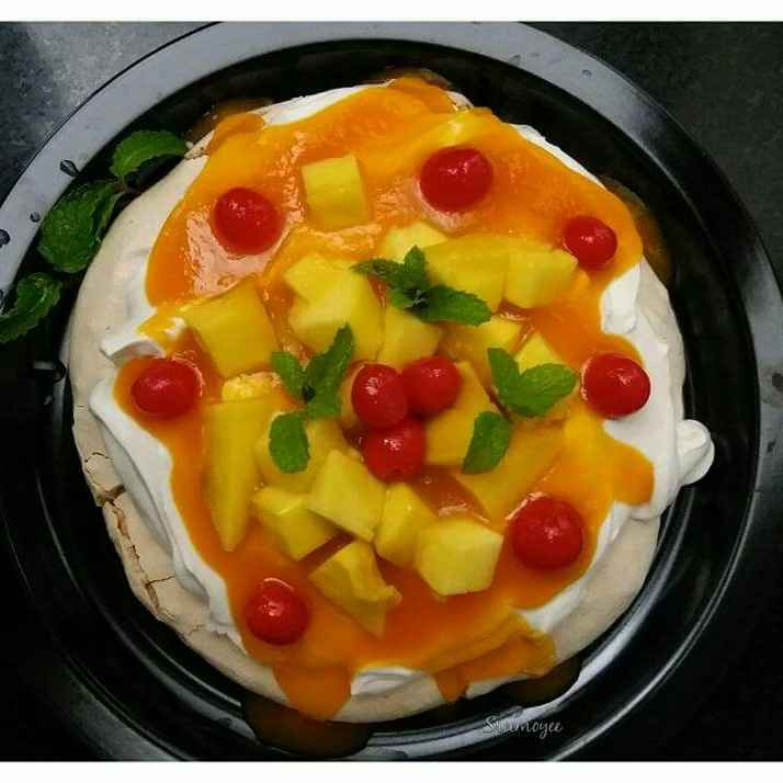 Photo of Mango pavlova by Sreemoyee Bhattacharjee at BetterButter