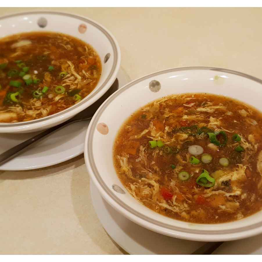 Photo of Chicken hot & sour soup by Sreemoyee Bhattacharjee at BetterButter