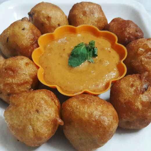 Photo of OnionBonda_GingerChutney by Sri Charani Ravinuthala at BetterButter
