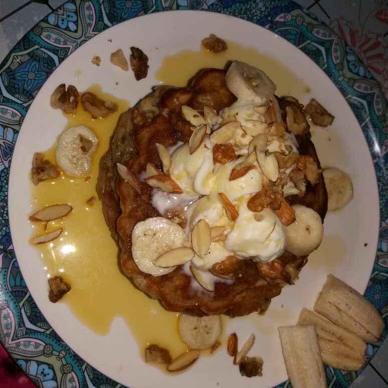 Photo of Banana walnut pancake. by Srijita Ghosh at BetterButter