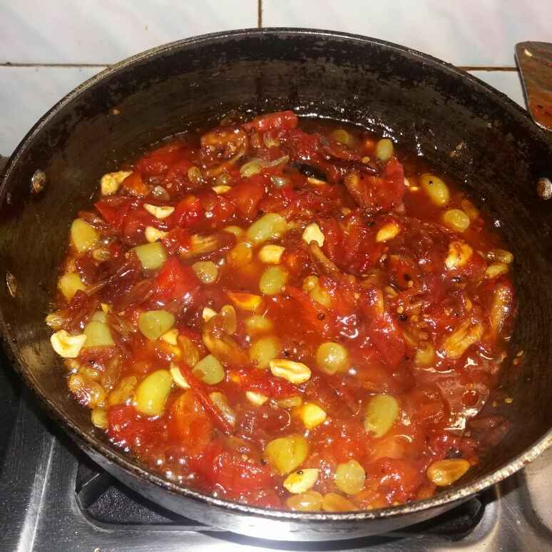 Photo of Tomato chutney with pinepple and grapes. by Srijita Ghosh at BetterButter