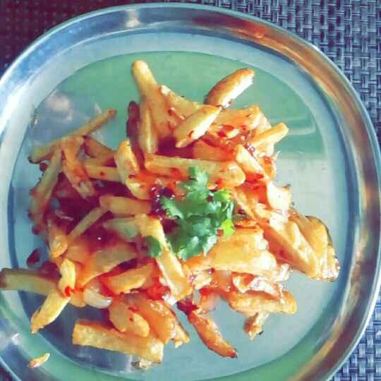 How to make Honey chilly potato