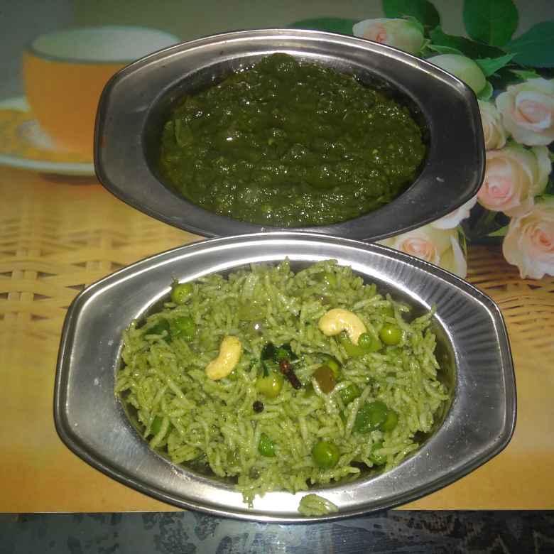 Photo of Green PavBhaji & Pulav by Stuti Vyas Raval at BetterButter