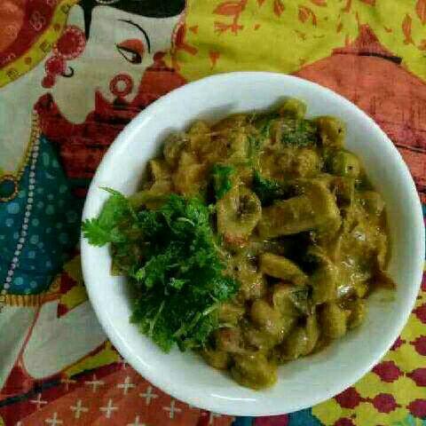 Photo of Mushroom Butter Beans Masala by Subashini Krish at BetterButter