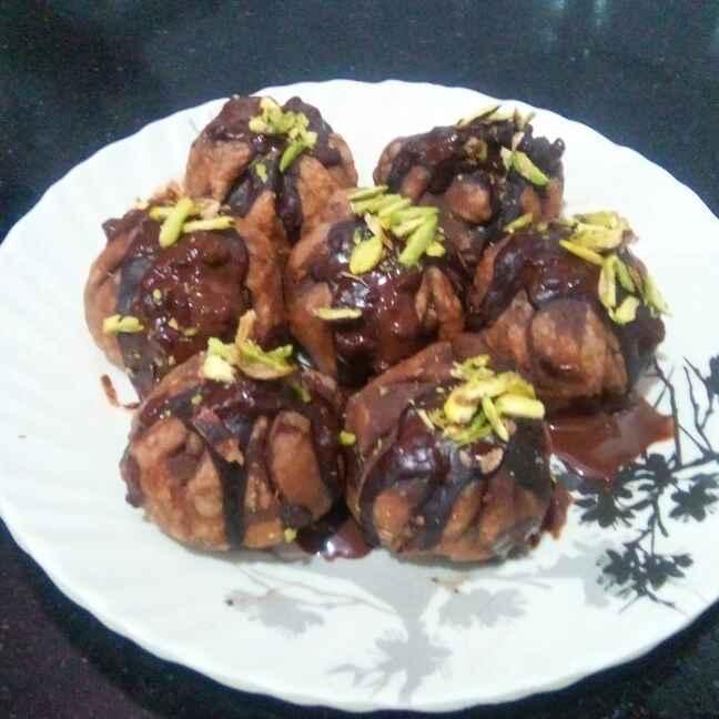 How to make Fried Chocolate and Coconut Modaks
