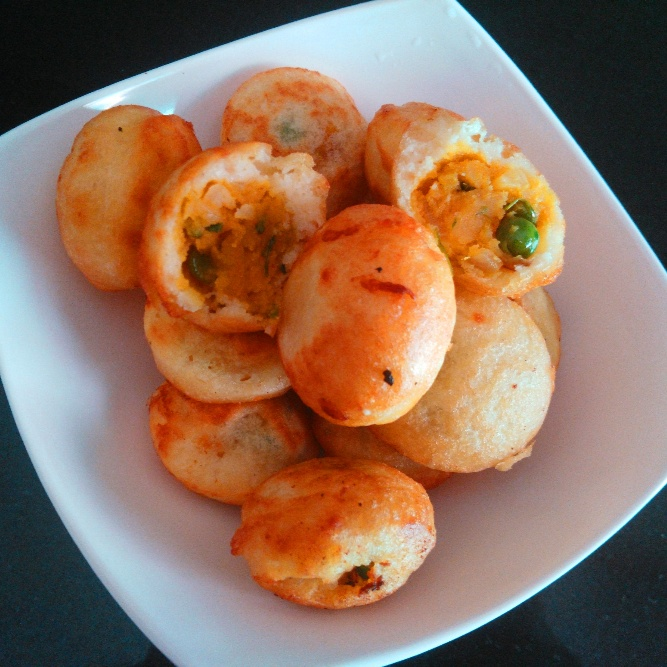 How to make Sweet Potato Bonda in Appe Pan