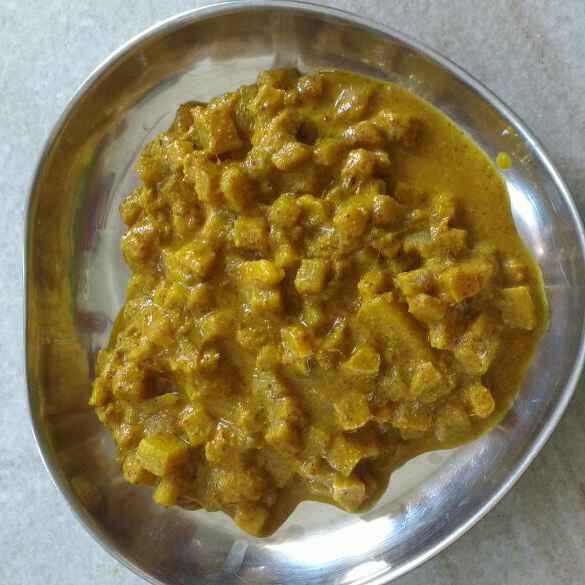 How to make Banana stem curry