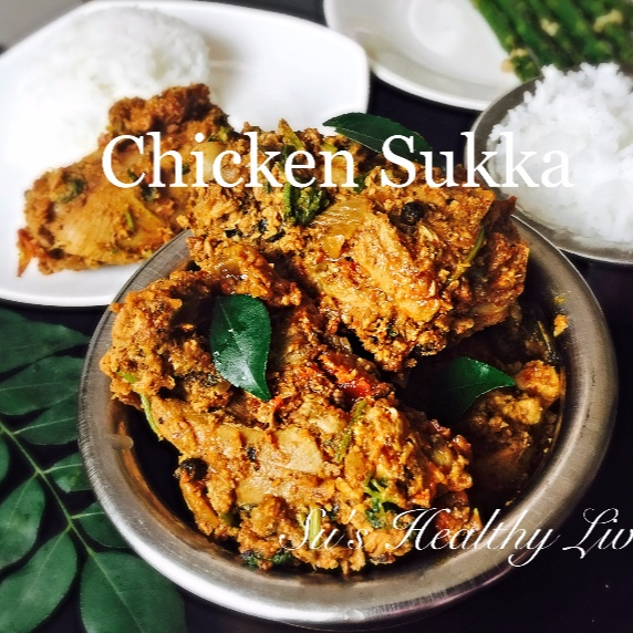 How to make Chicken Sukka  (South Canara Style Chicken in spicy coconut- based sauce)