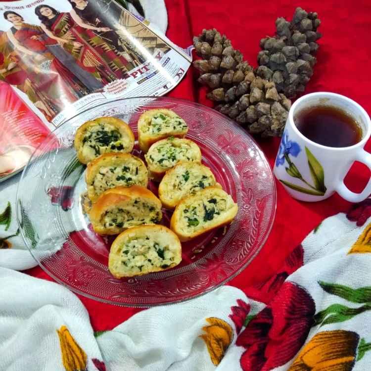 Photo of Cheesy stuffed bread by Sudeshna Mondal at BetterButter