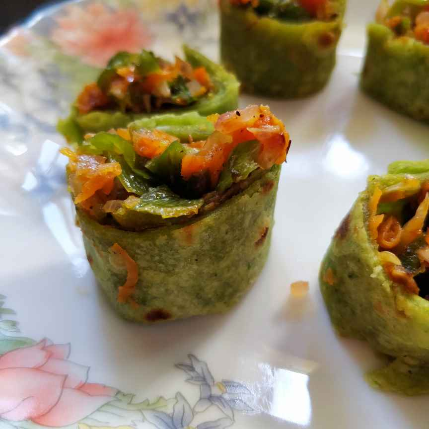 How to make Stuffed Spinach Rolls