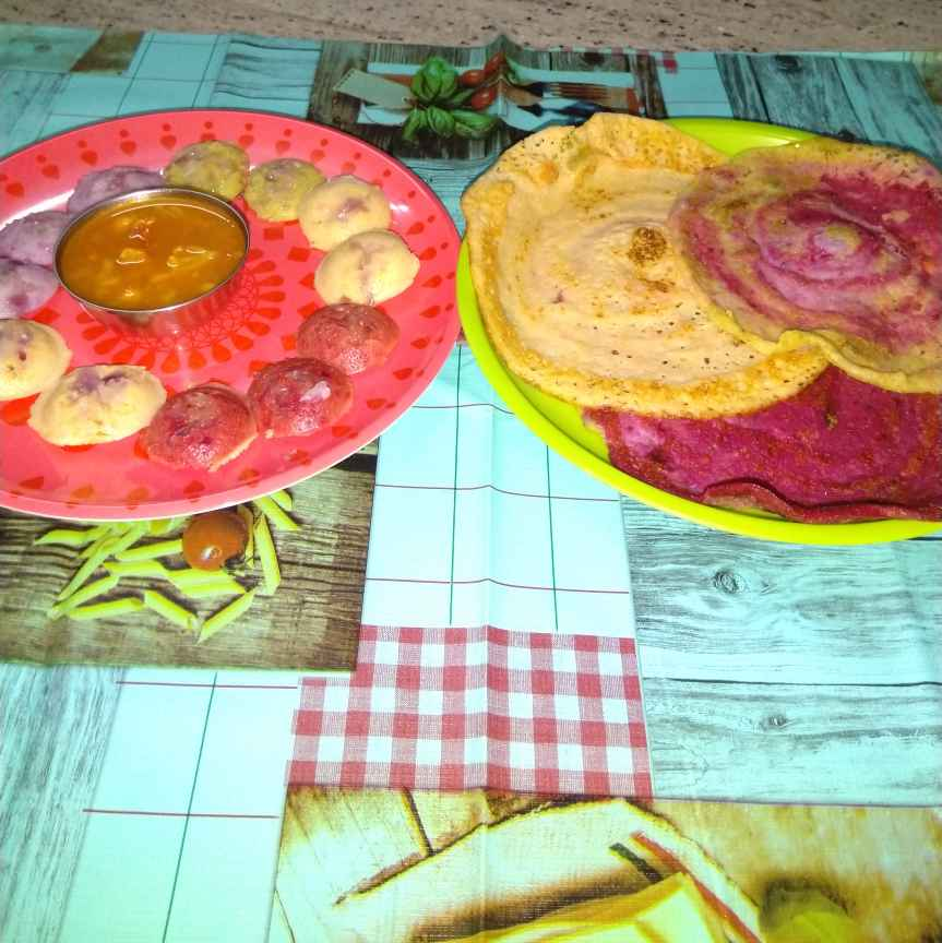 Photo of Colour full dosa and idli by sudha rani at BetterButter
