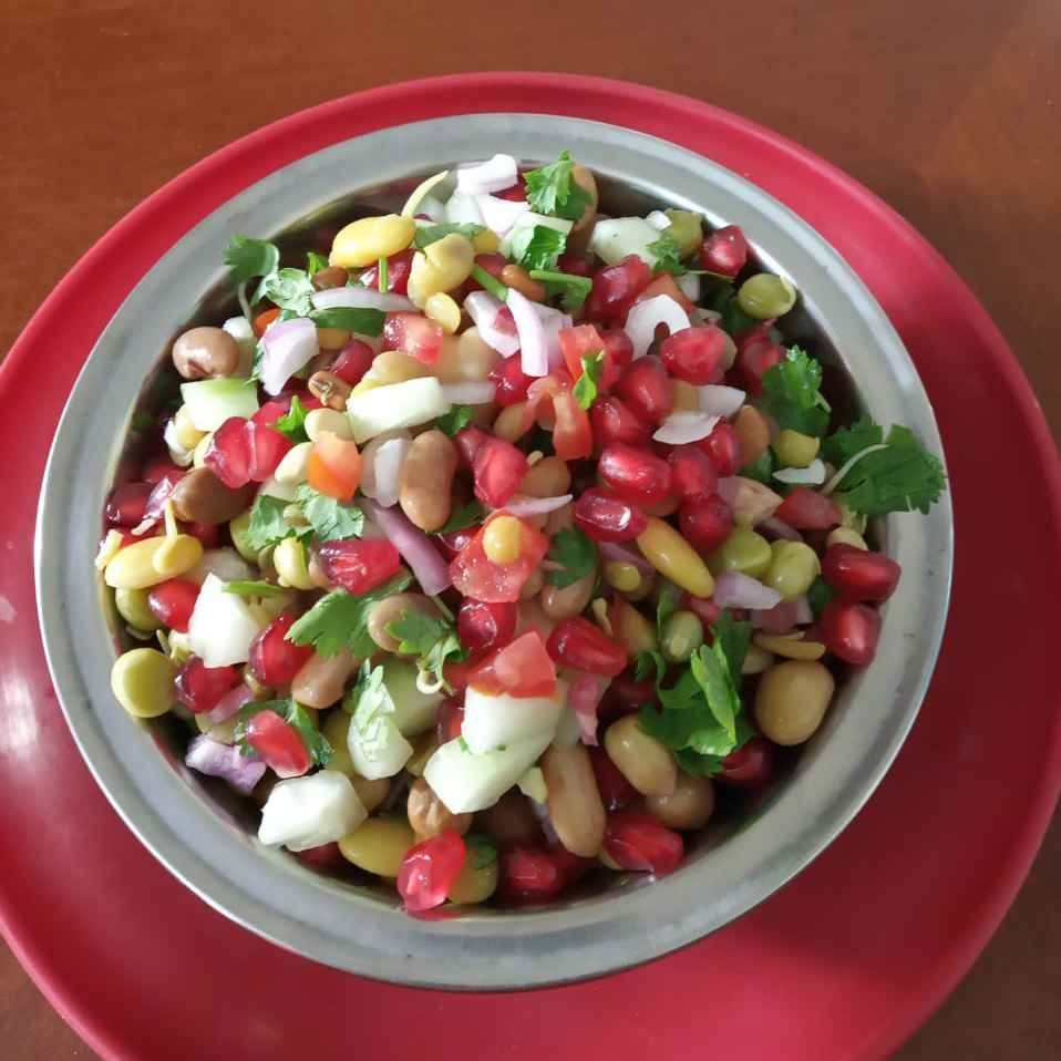 Photo of Sprout gram and fruit salad by sudha rani at BetterButter