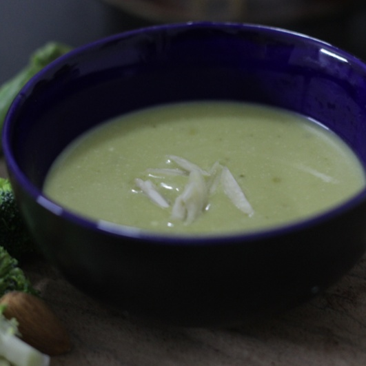Photo of Broccoli-Almond-Pea Soup by Sudha Sridhar at BetterButter
