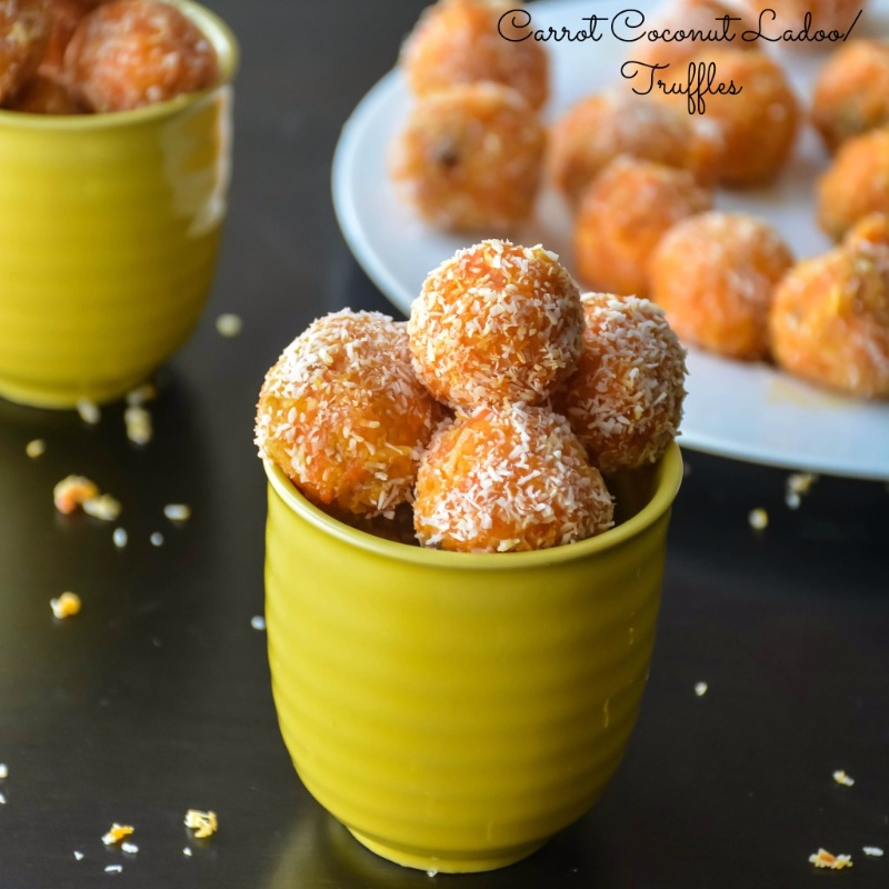 Photo of CARROT COCONUT TRUFFLES/ LADOO in 30 minutes by Suganya Hariharan at BetterButter