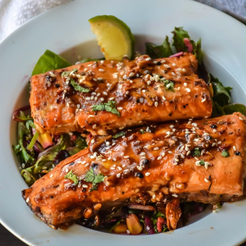 How to make Spicy Honey Garlic Salmon in Foil