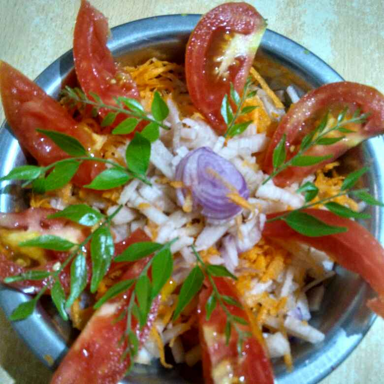 Photo of Vazhaithandu carrrot salad by sugunasivaraman sugunasivaraman at BetterButter