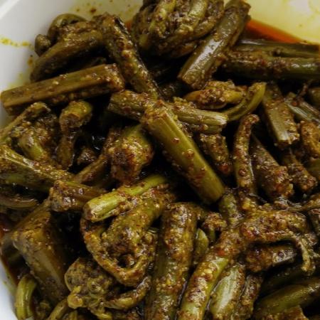 Photo of Kasrod (Fiddlehead Fern) Pickle - A Jammu delicacy by Suhan Mahajan at BetterButter