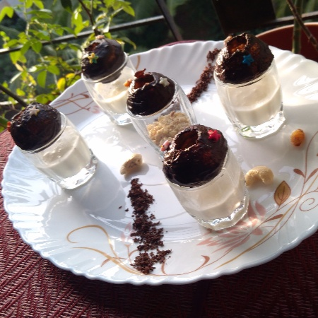 How to make Chocolate Dry fruits Panipuri