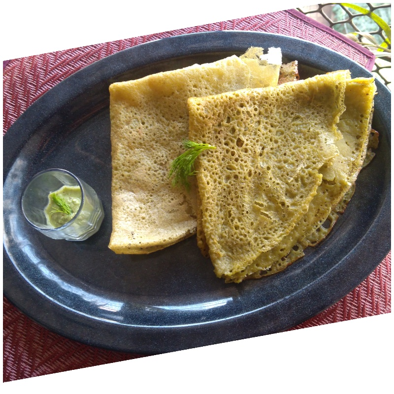 How to make Dill Leaves Crepes
