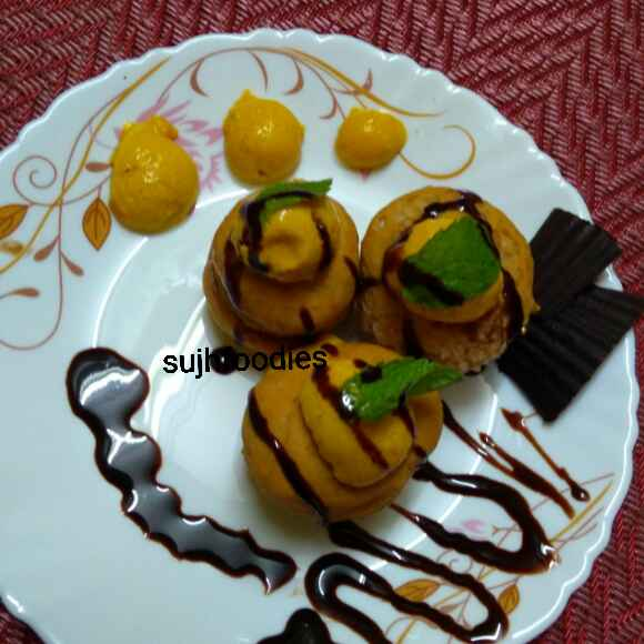 Photo of Mango Mousse sandwich by Sujata Hande-Parab at BetterButter