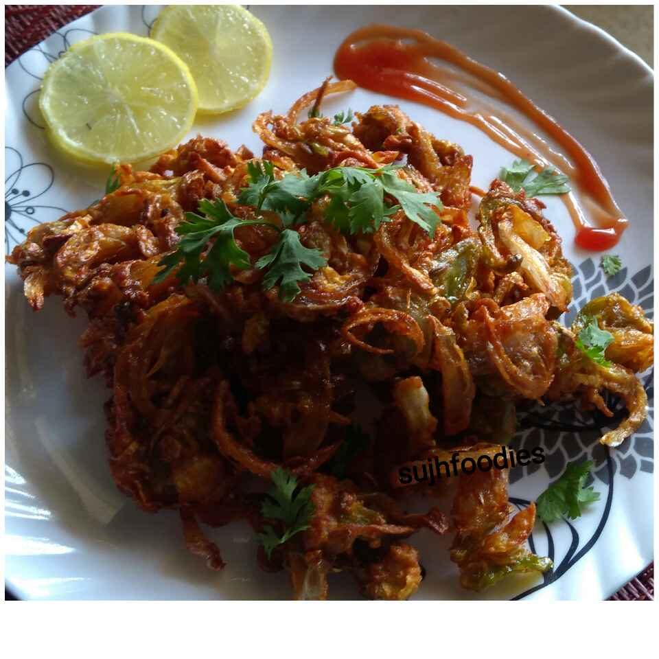 How to make Spring Onion Mix Veg Pakora