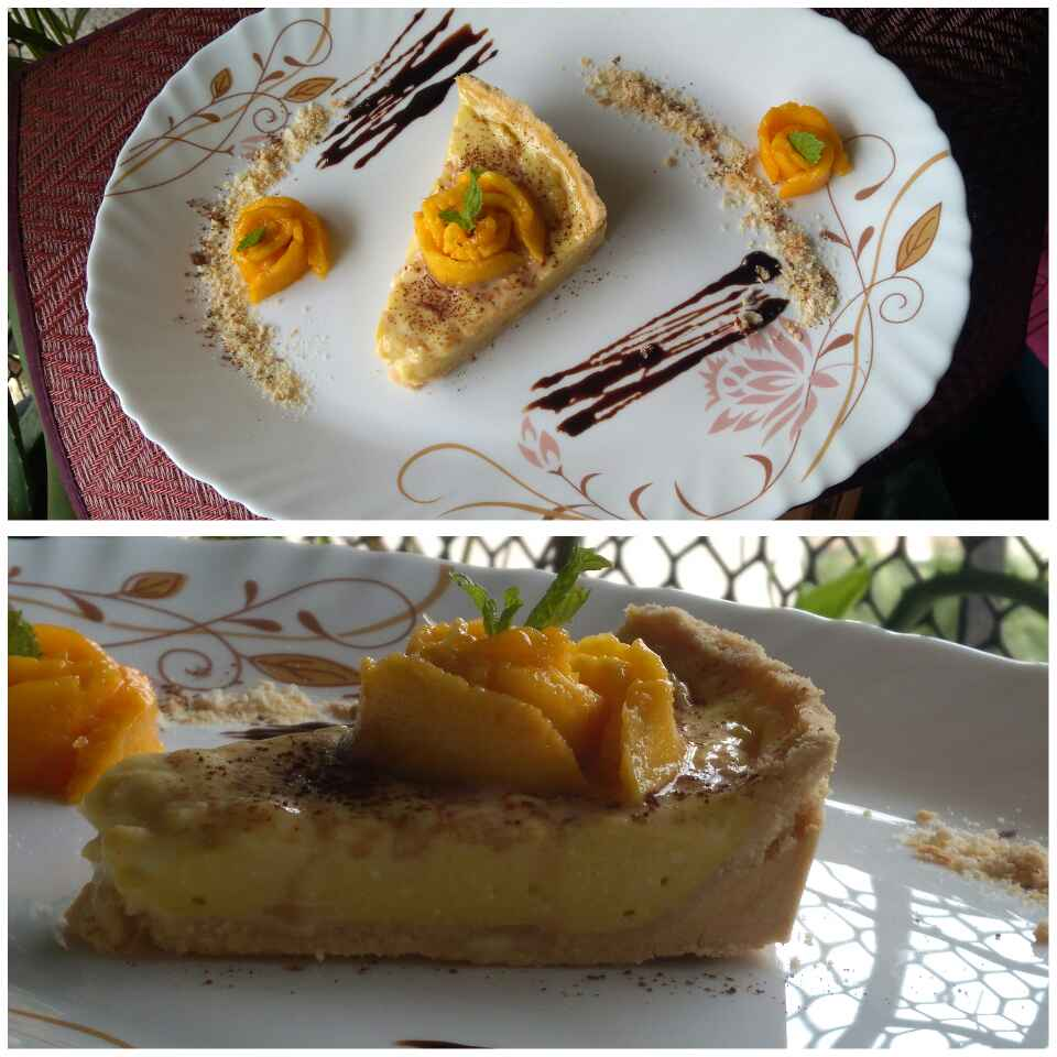 How to make No Bake Mango Custard Tart