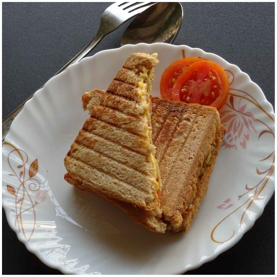 Photo of Egg Omelette Cheese Grilled Sandwich by Sujata Hande-Parab at BetterButter