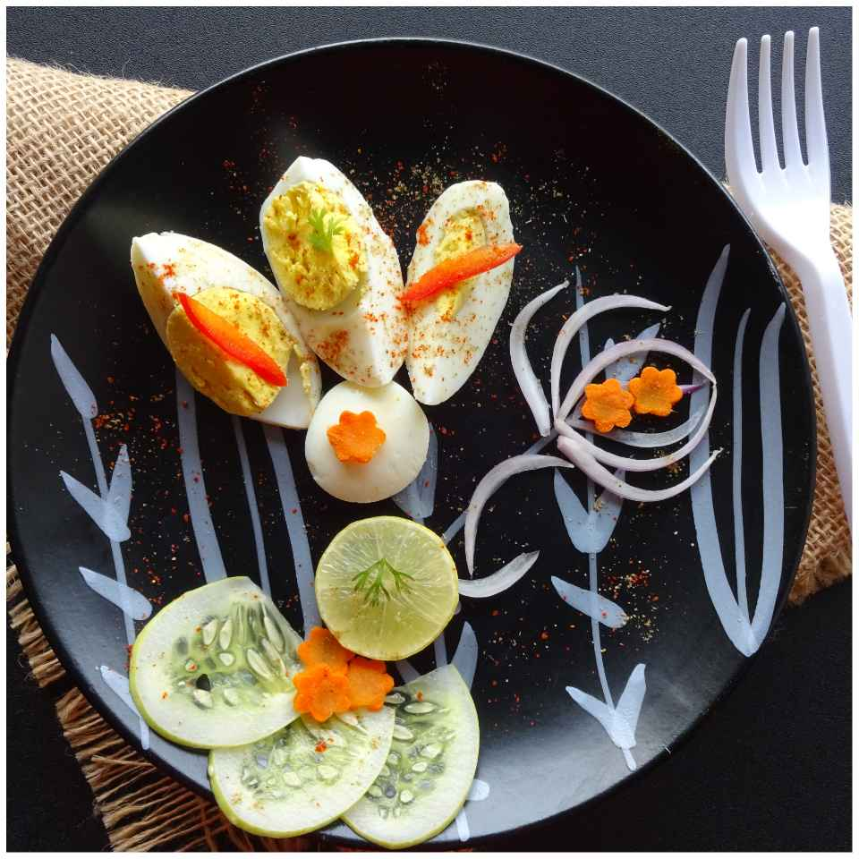 Photo of Hard boiled egg chat by Sujata Hande-Parab at BetterButter