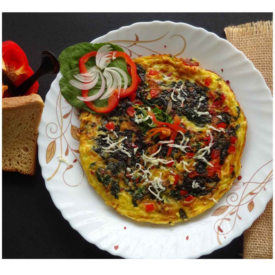 Photo of Quick Spinach Frittata by Sujata Hande-Parab at BetterButter