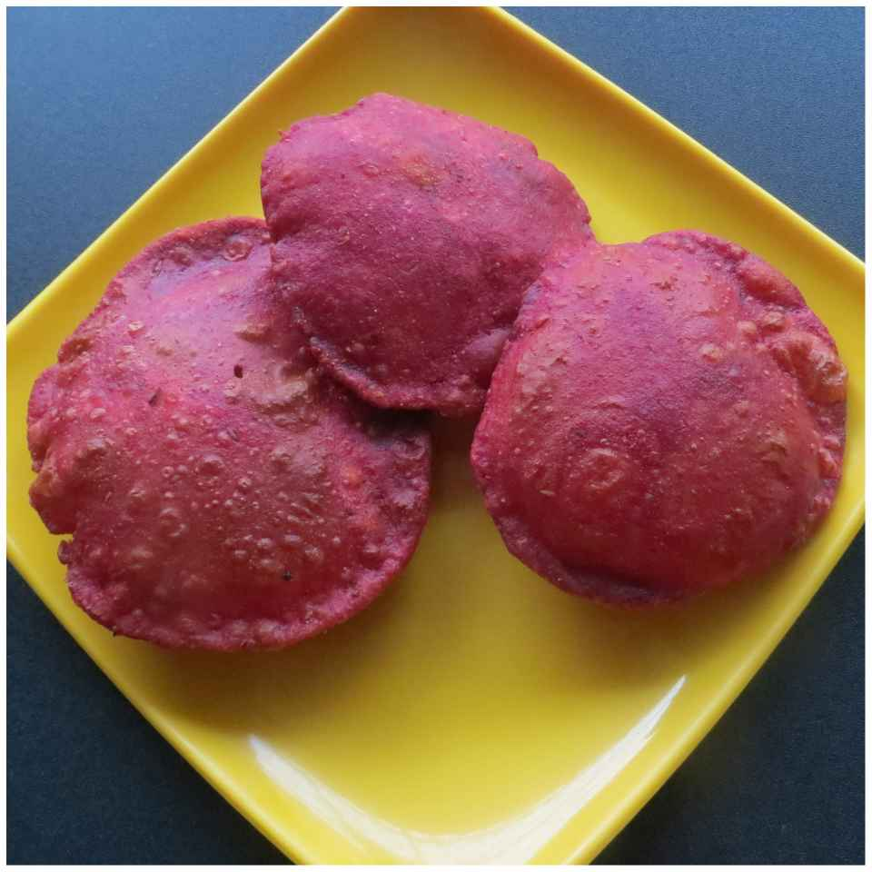 Photo of Beetroot Puri by Sujata Hande-Parab at BetterButter