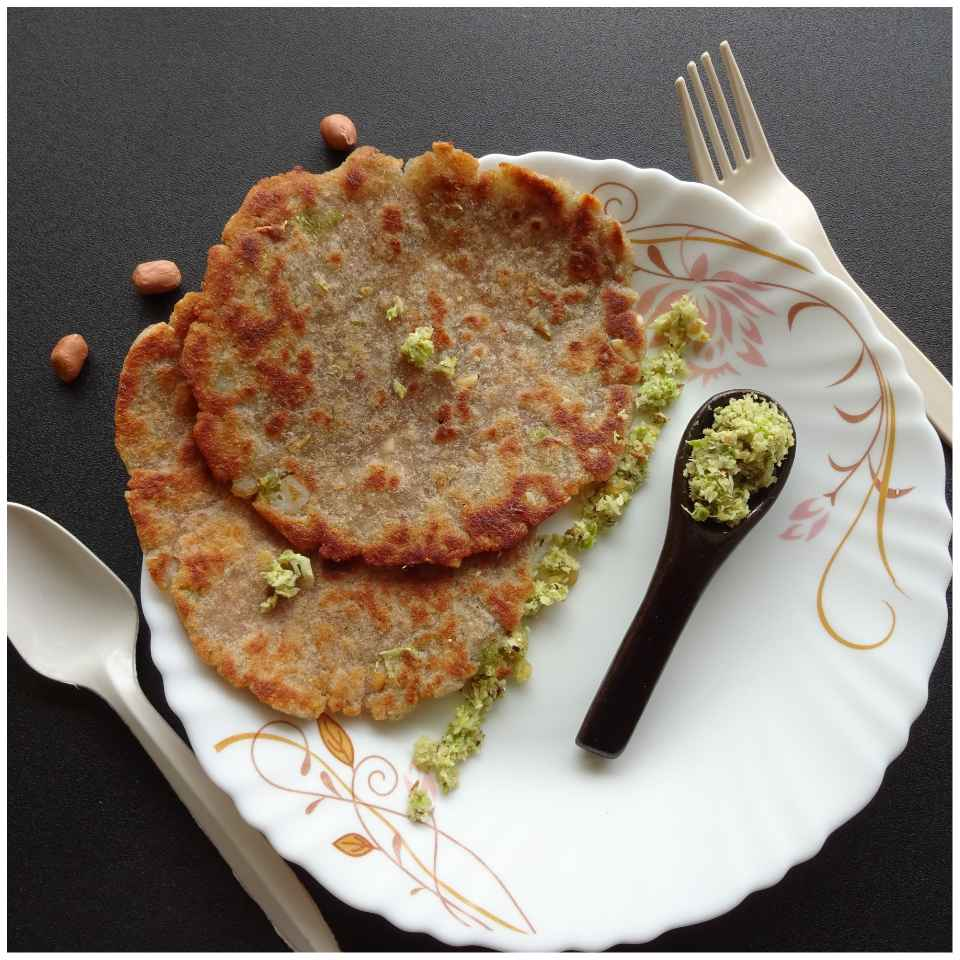 Photo of Water Chestnut flour Thalipeeth by Sujata Hande-Parab at BetterButter