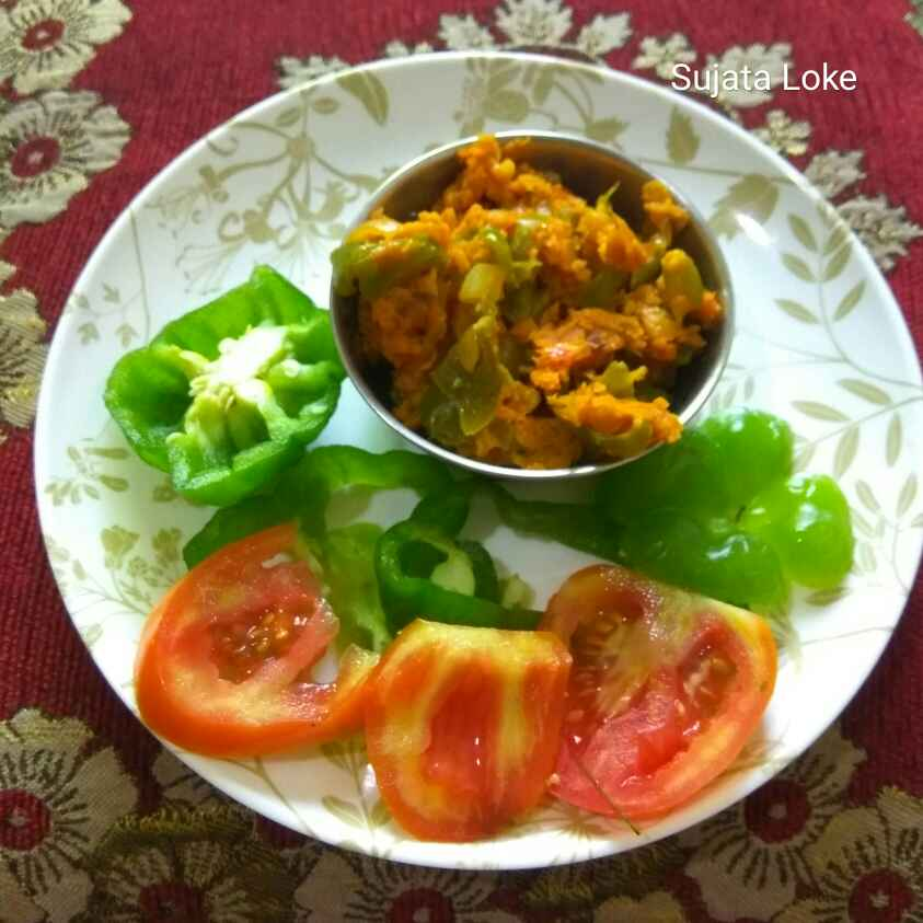 Photo of VEG Capsicum with gram flour by Sujata Loke at BetterButter