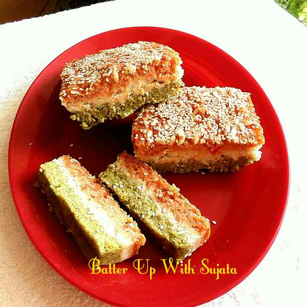 Photo of Tricolour Savory Cake by Sujata Roy at BetterButter