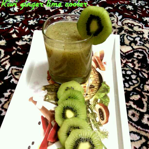 Photo of Kiwi Ginger Lime Cooler by Sujata Roy at BetterButter