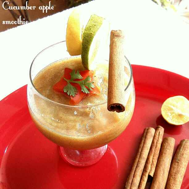 Photo of Cucumber Apple Smoothie by Sujata Roy at BetterButter