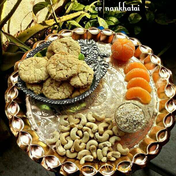 How to make Orange Crinkle Cookies or Nankhatai