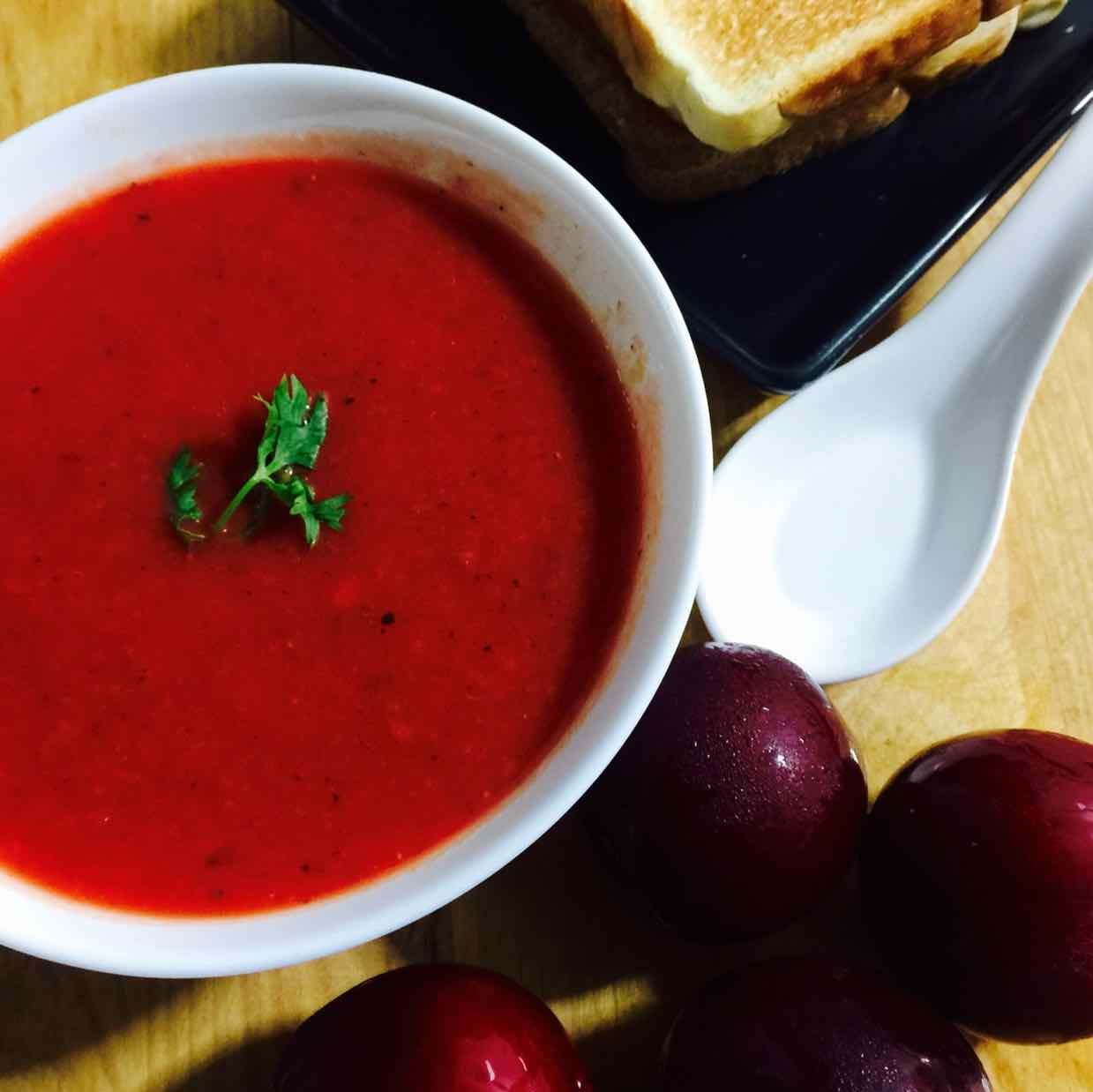 How to make Plum and Tomato Soup