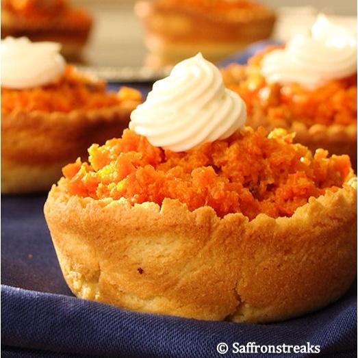 How to make Carrot tartlet diyas for Diwali / Halwa tartlets