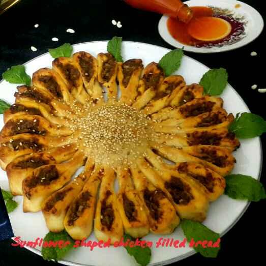 Photo of Sunflower chicken bread by Sumaiya Arafath at BetterButter