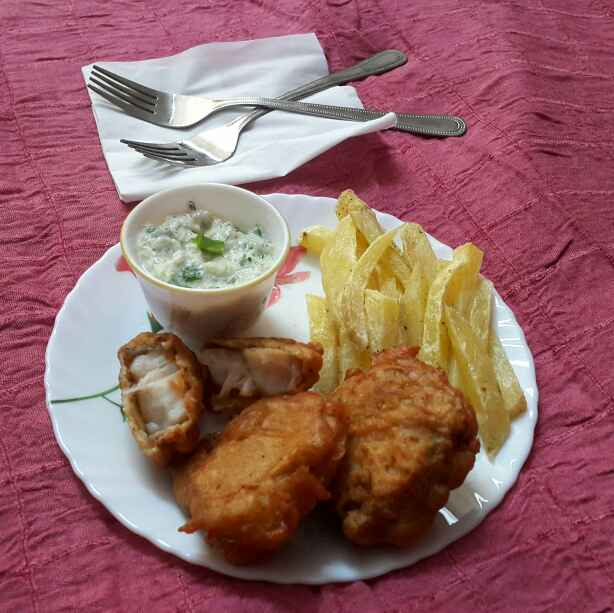 Photo of Fish and chips with tarter sauce(British street food) by Sumaiya Arafath at BetterButter
