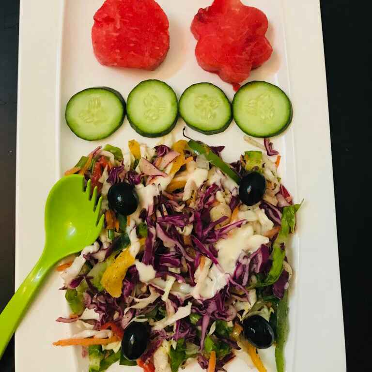 How to make Rainbow slaw salad