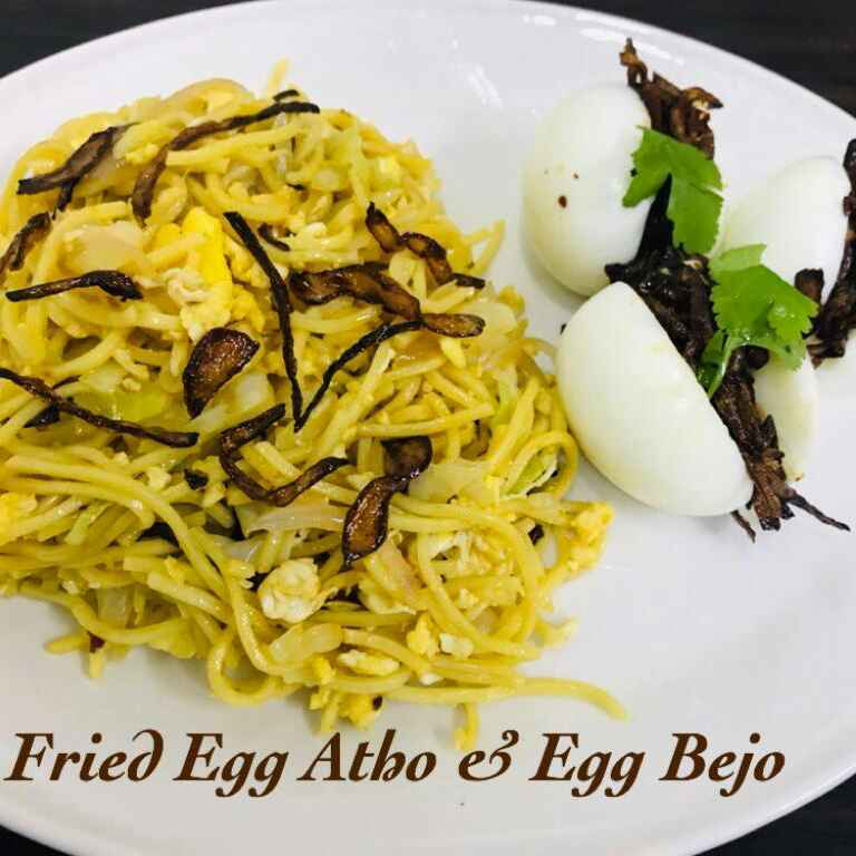 Photo of Burmese Street Food Spl Fried Egg Noodles and Egg Bejo by Sumaiya shafi at BetterButter