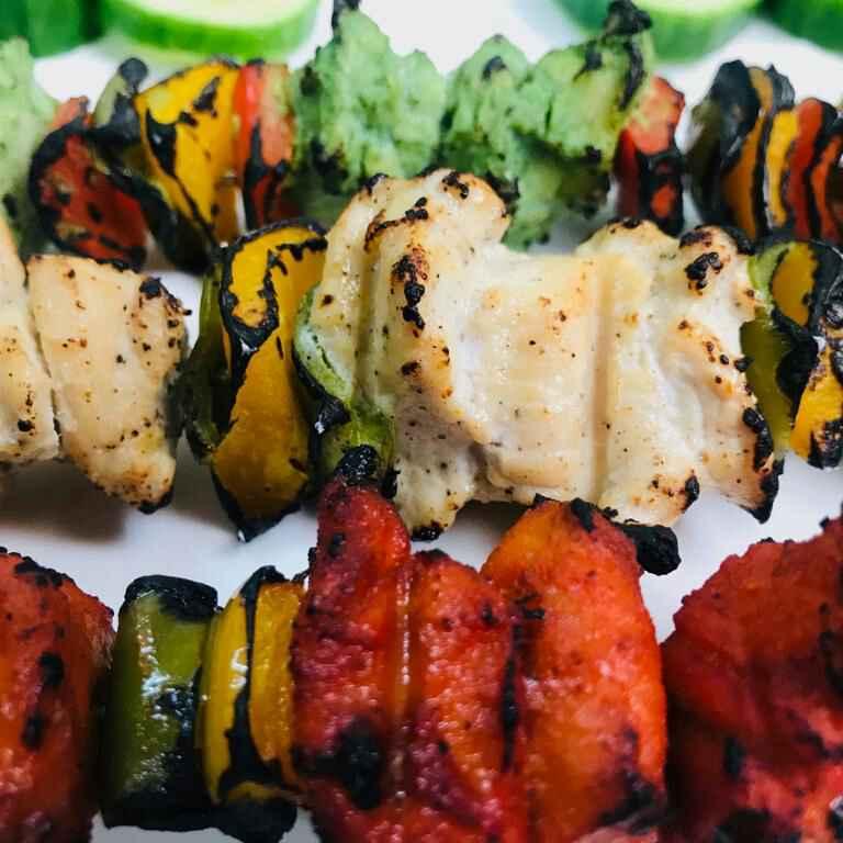 Photo of Hyderabad street food tricolour chicken tikka by Sumaiya shafi at BetterButter