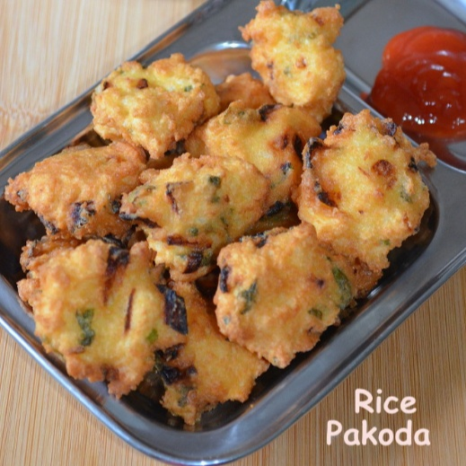 How to make Rice Pakoda