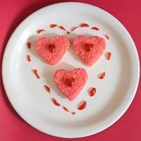 Photo of Valentine's Day Special Vanilla & Rose Milk Burfi Hearts by Sundari Pnp at BetterButter