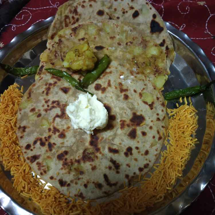 Photo of Aloo paratha. by sunita(Deepa) Gandhi at BetterButter